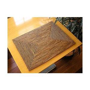 アタ ランチョンマット 長方形 大 [40x30cm] アジアン雑貨 バリ雑貨 エスニック おしゃれなランチョンマット テーブルマット |angkasa
