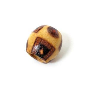 アジアン雑貨 アクセサリーパーツ 木のビーズ 10個入り 丸型 エスニック柄 angkasa