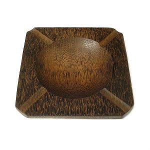 ココナッツの灰皿 四角形 Lサイズ アジアン雑貨 バリ雑貨 エスニック おしゃれな灰皿|angkasa