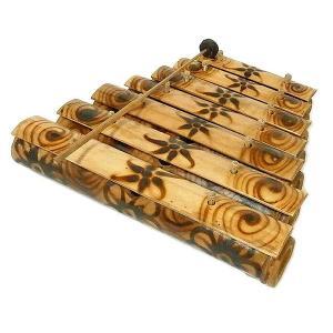 バンブーの竹琴(ガムラン) 焼き模様 アジアン雑貨 バリ雑貨 アジアの楽器|angkasa