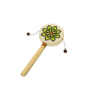 でんでん太鼓 打面8cm Mサイズ アジアの楽器 アジアン雑貨 バリ雑貨|angkasa