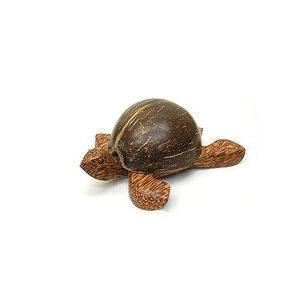 ココナッツの亀さんの灰皿S全長約14〜5cm アジアン雑貨 バリ雑貨 かわいい置物 灰皿|angkasa