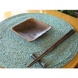 ココナッツの四角皿 12x12cm アジアン雑貨 バリ雑貨 エスニック おしゃれなお皿 角皿 angkasa