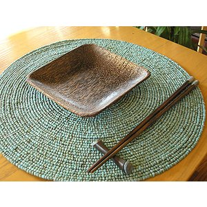 ココナッツの四角皿 15x15cm アジアン雑貨 バリ雑貨 エスニック おしゃれなお皿 角皿 angkasa