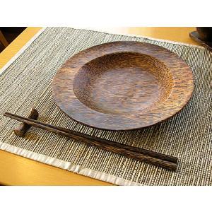 ココナッツの円形トレー D.20cm アジアン雑貨 バリ雑貨 エスニック おしゃれなお皿 丸皿 angkasa