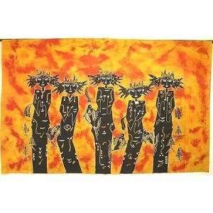 現代アートバティック  横  L  『豊漁の女神』 アジアン雑貨 バリ雑貨 バティック布 エスニック |angkasa