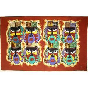 現代アートバティック 横 L マスク 8連 アジアン雑貨 バリ雑貨 バティック布 エスニック|angkasa