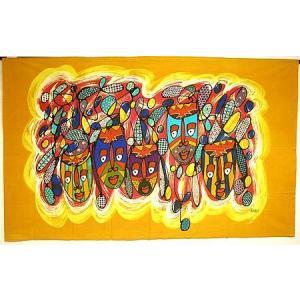 現代アートバティック 横 L マスク 5連 アジアン雑貨 バリ雑貨 バティック布 エスニック|angkasa