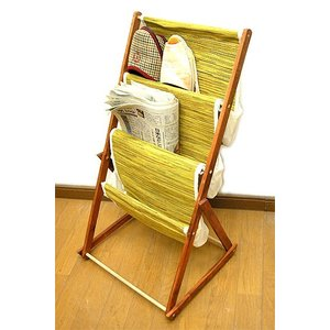 布製 ブックラック ペーパーラック3段【折りたたみ式】[H.72cm] アジアン雑貨 バリ雑貨 おしゃれな収納 angkasa