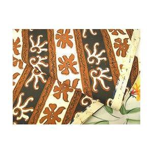 バティック ソロ トゥリス 白・黒・茶 アジアン雑貨 バリ雑貨 バティック布 エスニック|angkasa