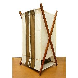 折りたたみ ランドリー ボックス 布製 収納 大容量 コンパクト オフホワイト カーキ 高さ80cm アジアン バリ タイ 雑貨 アジアン インテリア 送料無料 angkasa