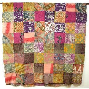 オールドバティックのパッチワーク 布地 ピンク系 アジアン雑貨 バリ雑貨  バティック布 エスニック|angkasa