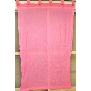 コットンガーゼのアジアンカーテン ピンク 丈.約190cmx幅.120cm アジアン雑貨 バリ雑貨 タイ エスニック おしゃれなカーテン|angkasa