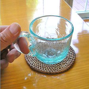 ガラスのカップ [直径約7cm] ティーカップ コーヒーカップ アジアン雑貨 バリ雑貨 エスニック おしゃれな ガラス カップ|angkasa