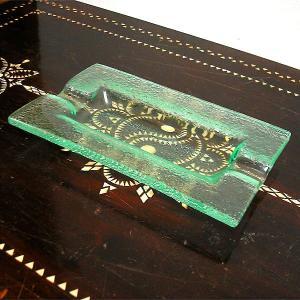 バリ ガラスの灰皿 アッシュトレー 長方形 [23x13.5cm] アジアン雑貨 バリ雑貨 エスニック おしゃれな ガラス灰皿 angkasa