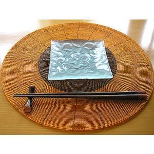 フランジパニ ガラス皿 13x13cm 磨りガラス アジアン雑貨 バリ雑貨 エスニック おしゃれな ガラス皿|angkasa