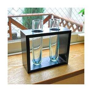 ガラスの花瓶 フラワーベース 2輪挿し アジアン雑貨 バリ雑貨 エスニック おしゃれな ガラス|angkasa