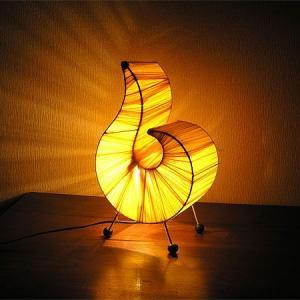 布メッシュのアジアン アートランプ 【黄色】 [H.36cm] アジアンインテリア アジアンランプ 照明 エスニック|angkasa