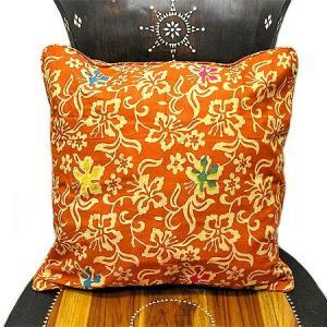 バティックのクッションカバー K [45x45cm] アジアン雑貨 バリ雑貨 タイ エスニック おしゃれなクッション|angkasa