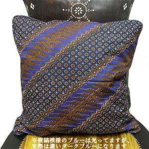 バティックのクッションカバー V [45x45cm] アジアン雑貨 バリ雑貨 タイ エスニック おしゃれなクッション|angkasa