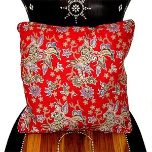 バティックのクッションカバー [45x45cm] アジアン雑貨 バリ雑貨 タイ エスニック おしゃれなクッション|angkasa