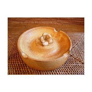タバナン 灰皿 フランジパニ ブラウン アジアン雑貨 バリ雑貨 おしゃれな かわいい灰皿|angkasa