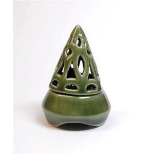 アジアン雑貨 香炉 コーン型 緑 インセンスホルダー コーン用 お香立て お香たて アジアン バリ雑貨 タイ アロマテラピー|angkasa