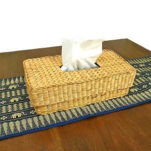 ウォータヒヤシンスのティッシュケース アジアン雑貨 タイ雑貨 エスニック おしゃれなティッシュケース angkasa