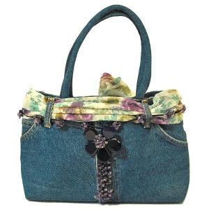 デニムのハンドバッグ ショルダーバッグ B-C 布製  アジアン雑貨 バリ雑貨 タイ雑貨 エスニック angkasa