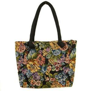 布製 トートバッグ A 黒系 織り 刺繍 ショルダーバッグ アジアン雑貨 バリ雑貨 タイ雑貨 エスニック|angkasa