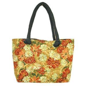 布製 トートバッグ B 薄茶系 織り 刺繍 ショルダーバッグ アジアン雑貨 バリ雑貨 タイ雑貨 エスニック|angkasa