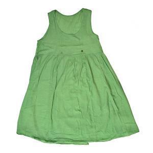 レディース ボタン付きワンピース ライトグリーン フリーサイズ [着丈100〜105cm] アジアンファッション アジアン雑貨 バリ雑貨 タイ雑貨 |angkasa