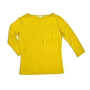 レディース 七分袖 Tシャツ Mサイズ イエロー [着丈50〜55cm] アジアンファッション アジアン雑貨 バリ雑貨 タイ雑貨 |angkasa