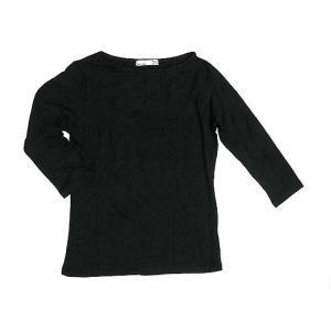 レディース 七分袖 Tシャツ Mサイズ ブラック [着丈50〜55cm] アジアンファッション アジアン雑貨 バリ雑貨 タイ雑貨 |angkasa
