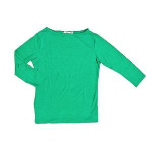 レディース 七分袖 Tシャツ Mサイズ グリーン [着丈50〜55cm] アジアンファッション アジアン雑貨 バリ雑貨 タイ雑貨 |angkasa