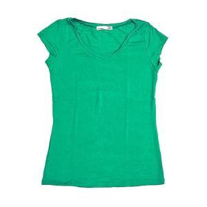 レディース 半袖 Tシャツ Mサイズ グリーン [着丈55〜60cm] アジアンファッション アジアン雑貨 バリ雑貨 タイ雑貨 |angkasa