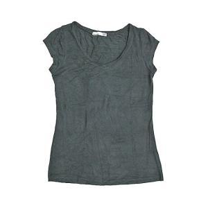 レディース 半袖 Tシャツ Mサイズ チャコール [着丈55〜60cm] アジアンファッション アジアン雑貨 バリ雑貨 タイ雑貨 |angkasa