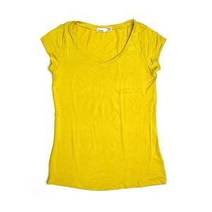 レディース 半袖 Tシャツ Mサイズ イエロー [着丈55〜60cm] アジアンファッション アジアン雑貨 バリ雑貨 タイ雑貨 |angkasa