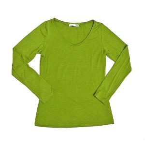 レディース 長袖 Tシャツ Mサイズ ライトグリーン [着丈55〜60cm] アジアンファッション アジアン雑貨 バリ雑貨 タイ雑貨 |angkasa