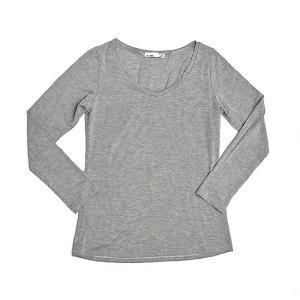 レディース 長袖 Tシャツ Mサイズ グレー [着丈55〜60cm] アジアンファッション アジアン雑貨 バリ雑貨 タイ雑貨 |angkasa
