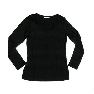 レディース 長袖 Tシャツ Mサイズ ブラック [着丈55〜60cm] アジアンファッション アジアン雑貨 バリ雑貨 タイ雑貨 |angkasa