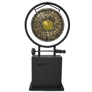 アジアン雑貨 バリ雑貨 タイ雑貨 アジアの楽器 ゴング 銅鑼 台付き [どら直径24.5cm] angkasa