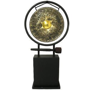 アジアン雑貨 バリ雑貨 タイ雑貨 アジアの楽器 ゴング 銅鑼 台付き [どら直径26cm] angkasa