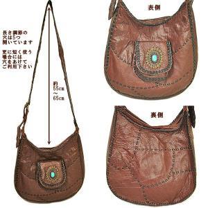 レザーのショルダーバッグ 赤系ブラウン 斜め掛け ハンドメイド 革製品 アジアン雑貨 バリ雑貨 タイ雑貨 エスニック おしゃれなバッグ|angkasa