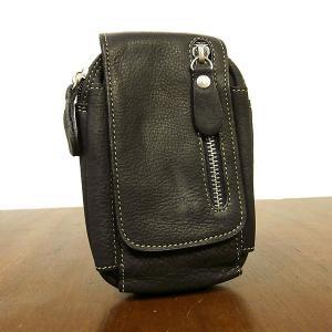 レザーのスマートフォンケース 本革iPhoneケース ブラック コインケース付き アジアン雑貨 タイ雑貨|angkasa