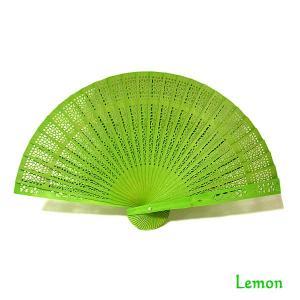 アロマの香りの扇子 レモンの香り Lemon おしゃれな扇子 かわいい扇子 エスニック アジアン 雑貨 バリ 雑貨 タイ 雑貨 アジアン|angkasa