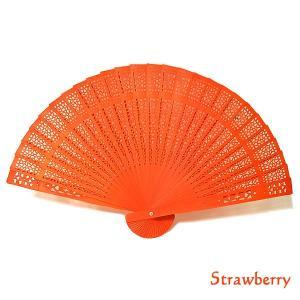 アロマの香りの扇子 いちごの香り strawberry おしゃれな扇子 かわいい扇子 エスニック アジアン 雑貨 バリ 雑貨 タイ 雑貨 アジアン|angkasa