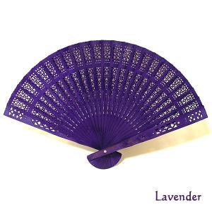 アロマの香りの扇子 ラベンダーの香り Lavender おしゃれな扇子 かわいい扇子 エスニック アジアン 雑貨 バリ 雑貨 タイ 雑貨 アジアン|angkasa