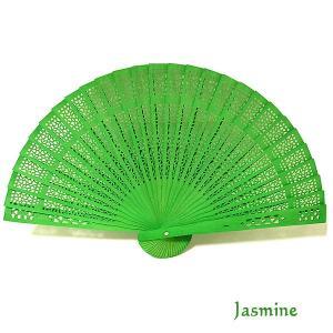 アロマの香りの扇子 ジャスミンの香り Jasmine おしゃれな扇子 かわいい扇子 エスニック アジアン 雑貨 バリ 雑貨 タイ 雑貨 アジアン|angkasa