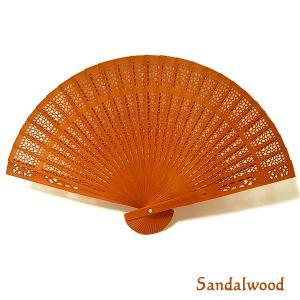 アロマの香りの扇子 サンダルウッドの香り Sandalwood おしゃれな扇子 かわいい扇子 エスニック アジアン 雑貨 バリ 雑貨 タイ 雑貨 アジアン|angkasa